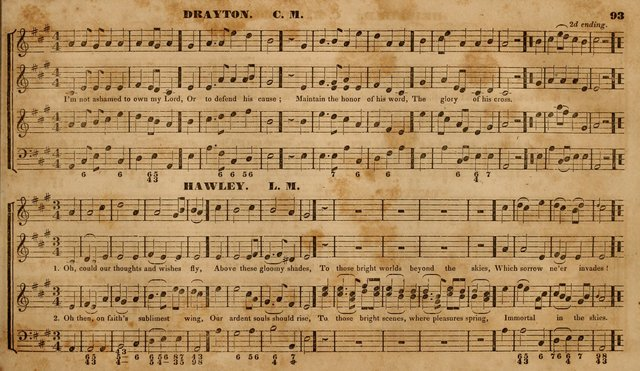 The Choir: or, Union collection of church music. Consisting of a great variety of psalm and hymn tunes, anthems, &c. original and selected. Including many beautiful subjects from the works.. (2nd ed.) page 93