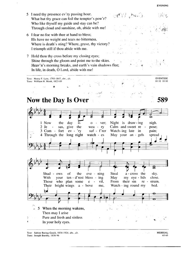 Christian Worship: a Lutheran hymnal 588. Abide with me; fast ...
