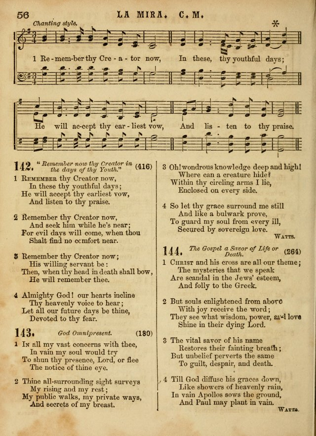 The Devotional Hymn and Tune Book: for social and public worship page 56