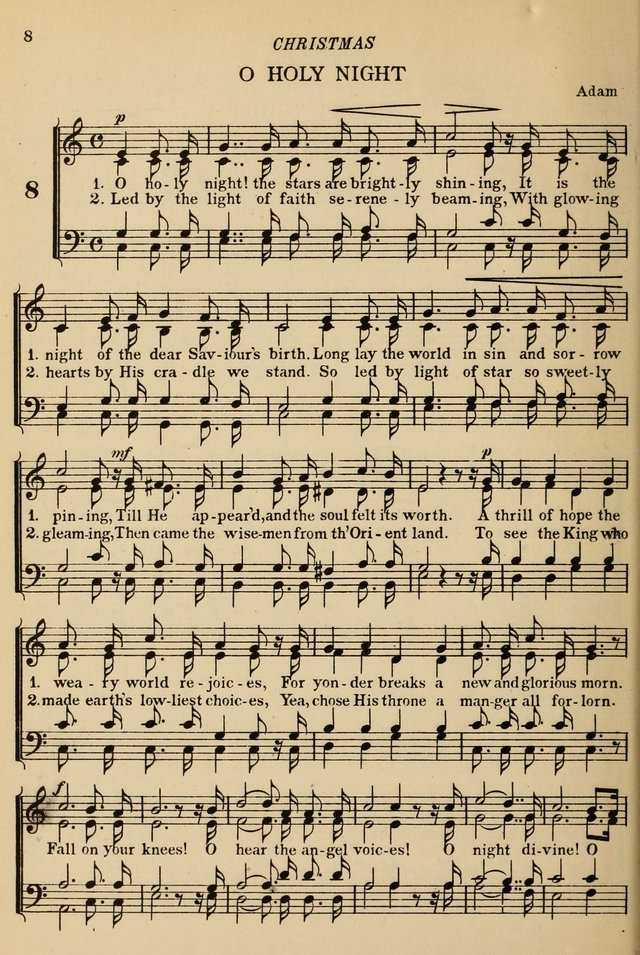 The De La Salle Hymnal: for Catholic schools and choirs 8. O holy night! the stars are brightly ...
