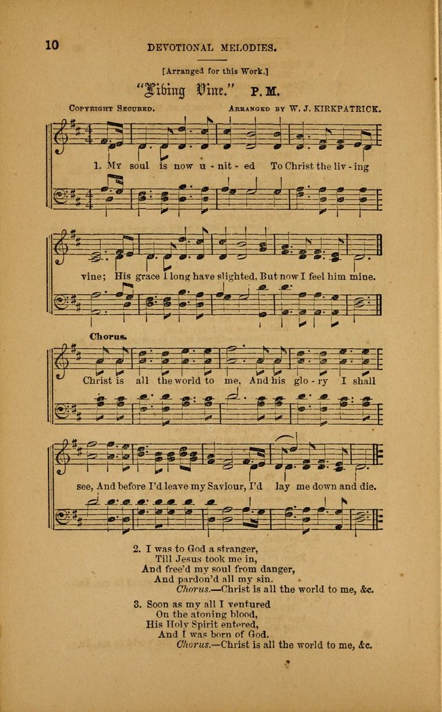 Devotional Melodies; or, a collection of original and selected tunes and hymns, designed for congregational and social worship. (3rd ed.) page 11