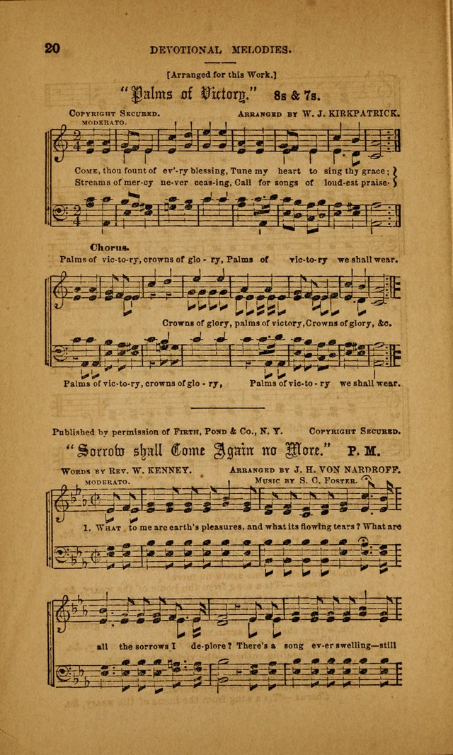 Devotional Melodies; or, a collection of original and selected tunes and hymns, designed for congregational and social worship. (3rd ed.) page 21