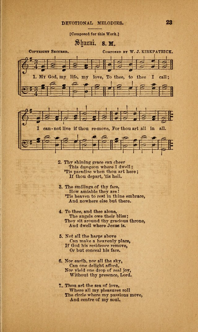 Devotional Melodies; or, a collection of original and selected tunes and hymns, designed for congregational and social worship. (3rd ed.) page 24