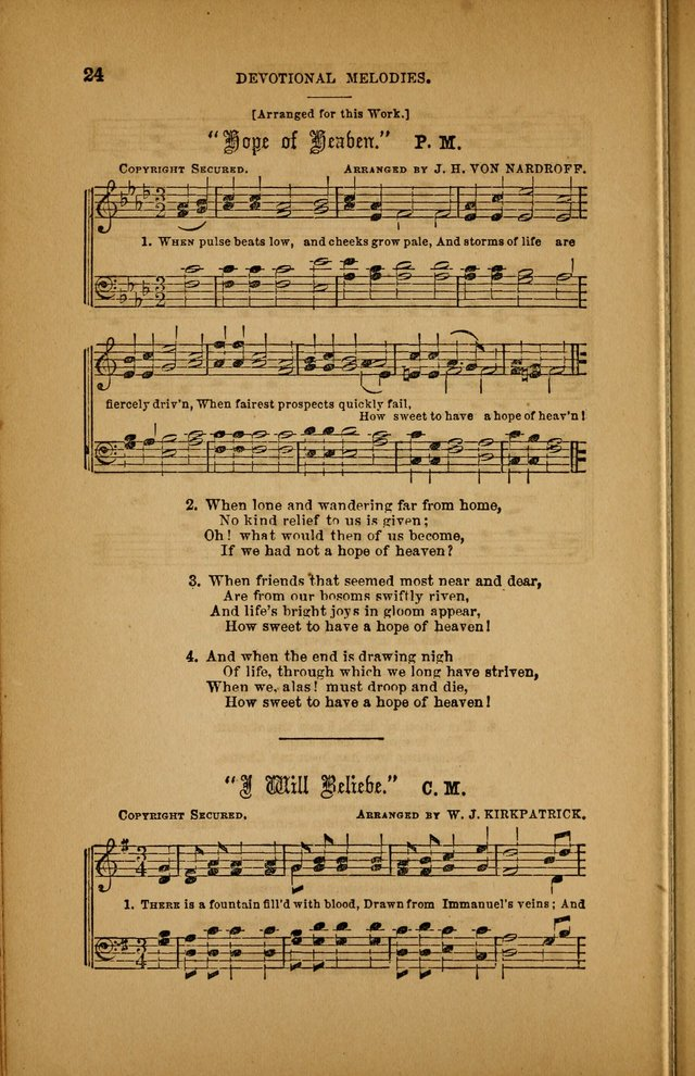 Devotional Melodies; or, a collection of original and selected tunes and hymns, designed for congregational and social worship. (3rd ed.) page 25