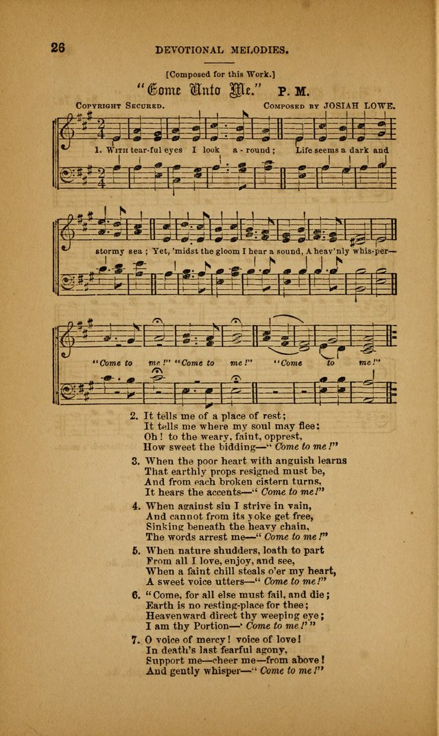Devotional Melodies; or, a collection of original and selected tunes and hymns, designed for congregational and social worship. (3rd ed.) page 27