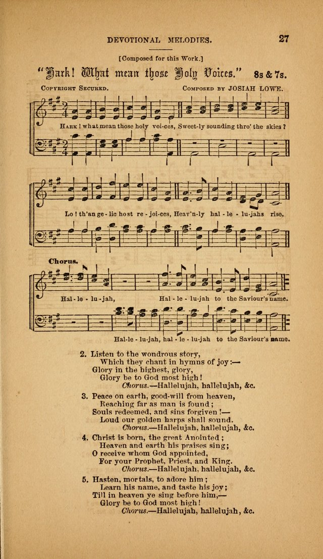 Devotional Melodies; or, a collection of original and selected tunes and hymns, designed for congregational and social worship. (3rd ed.) page 28