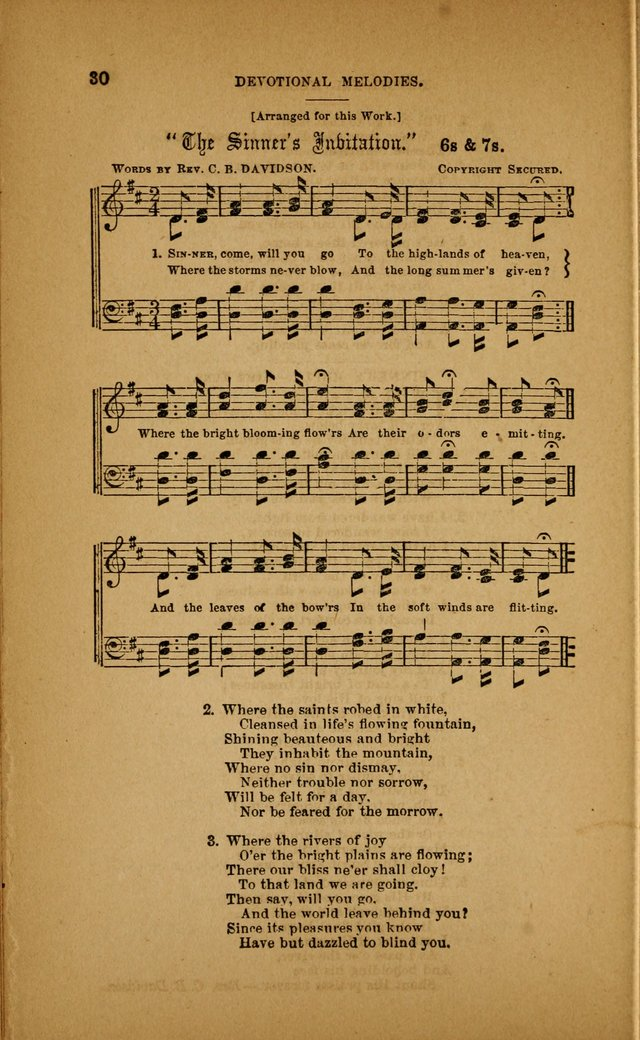Devotional Melodies; or, a collection of original and selected tunes and hymns, designed for congregational and social worship. (3rd ed.) page 31