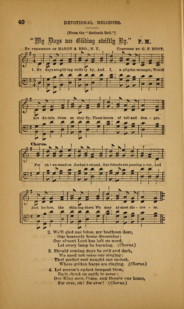 Devotional Melodies; or, a collection of original and selected tunes and hymns, designed for congregational and social worship. (3rd ed.) page 41