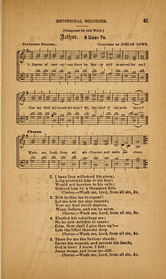 Devotional Melodies; or, a collection of original and selected tunes and hymns, designed for congregational and social worship. (3rd ed.) page 42