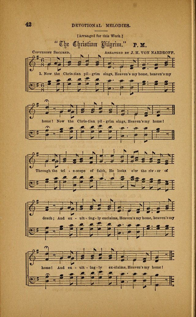 Devotional Melodies; or, a collection of original and selected tunes and hymns, designed for congregational and social worship. (3rd ed.) page 43