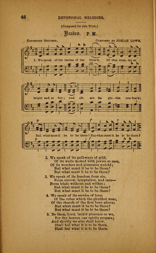 Devotional Melodies; or, a collection of original and selected tunes and hymns, designed for congregational and social worship. (3rd ed.) page 47
