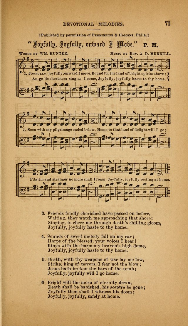 Devotional Melodies; or, a collection of original and selected tunes and hymns, designed for congregational and social worship. (3rd ed.) page 72