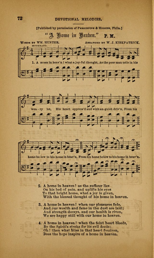 Devotional Melodies; or, a collection of original and selected tunes and hymns, designed for congregational and social worship. (3rd ed.) page 73