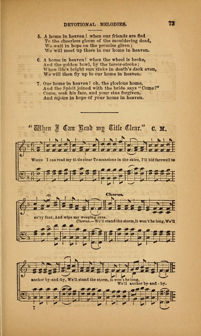 Devotional Melodies; or, a collection of original and selected tunes and hymns, designed for congregational and social worship. (3rd ed.) page 74