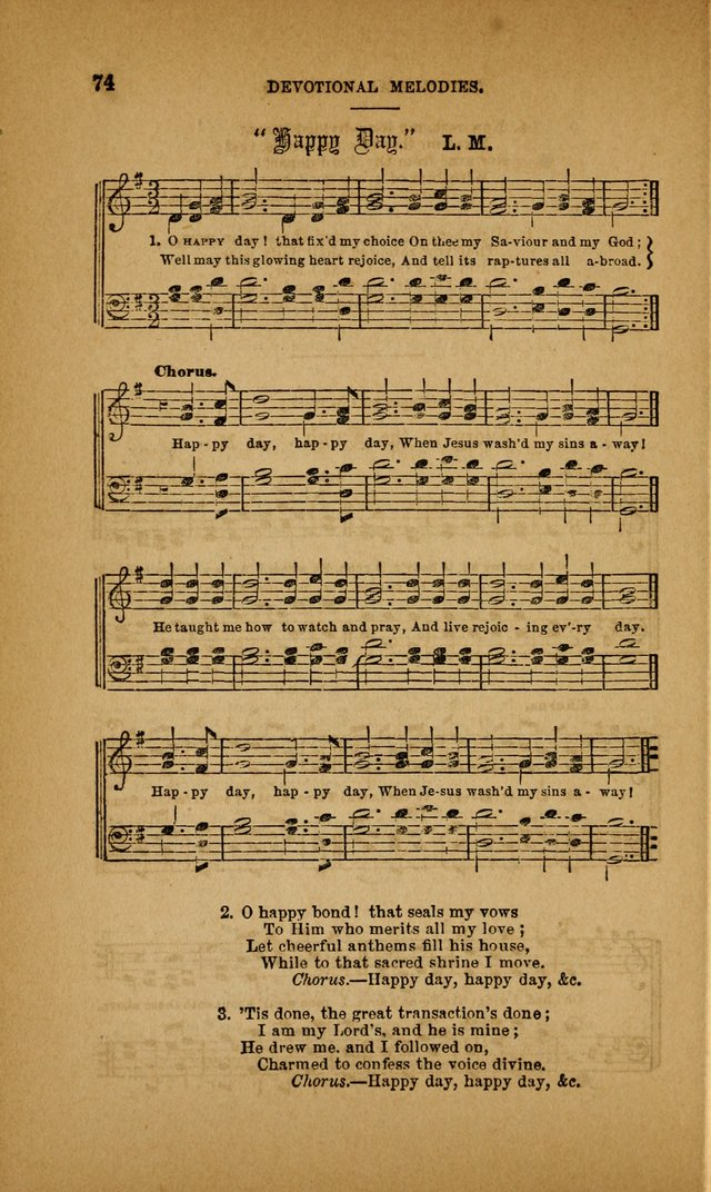 Devotional Melodies; or, a collection of original and selected tunes and hymns, designed for congregational and social worship. (3rd ed.) page 75