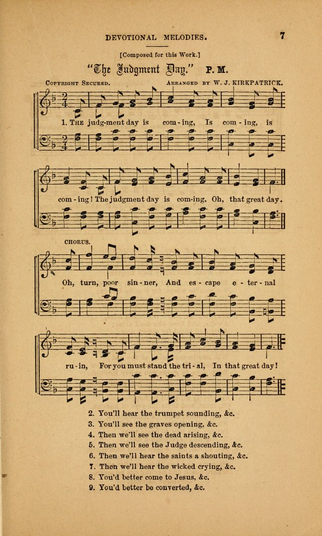 Devotional Melodies; or, a collection of original and selected tunes and hymns, designed for congregational and social worship. (3rd ed.) page 8