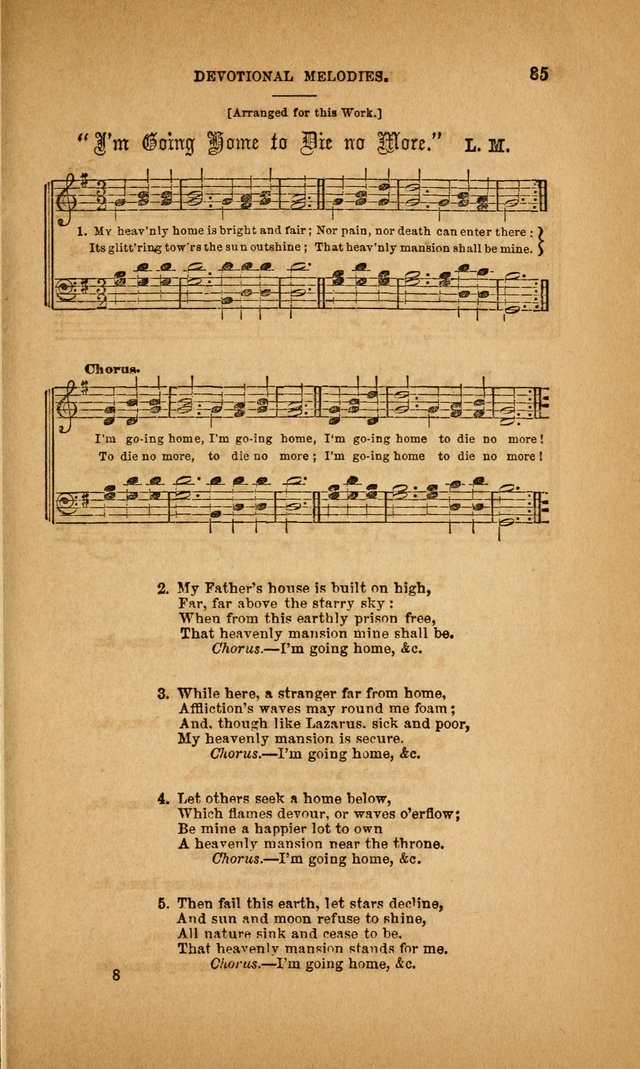Devotional Melodies; or, a collection of original and selected tunes and hymns, designed for congregational and social worship. (3rd ed.) page 86