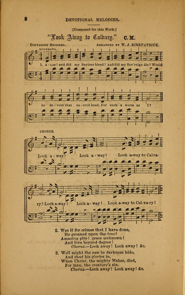 Devotional Melodies; or, a collection of original and selected tunes and hymns, designed for congregational and social worship. (3rd ed.) page 9