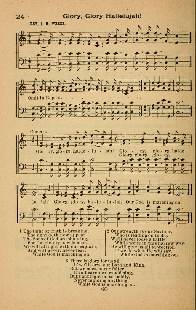 The Evangelist No. 3.  (Music ed.) page 20