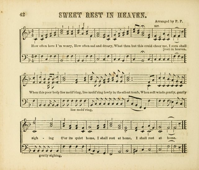 Early Blossoms: a collection of music for Sabbath schools, with rudiments page 42