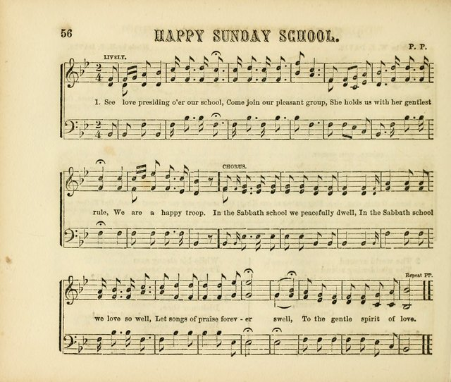 Early Blossoms: a collection of music for Sabbath schools, with rudiments page 56