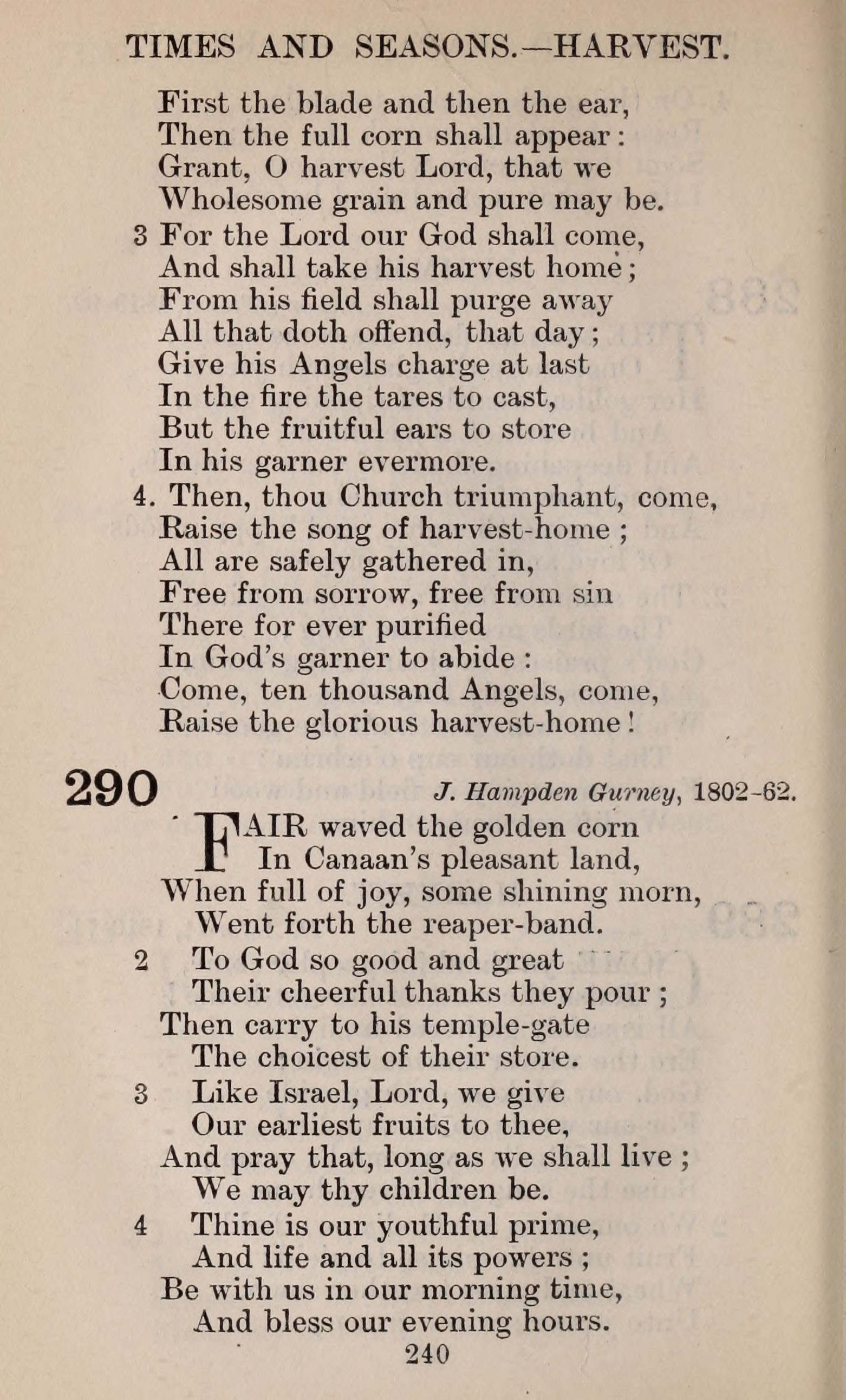 The English Hymnal page 240