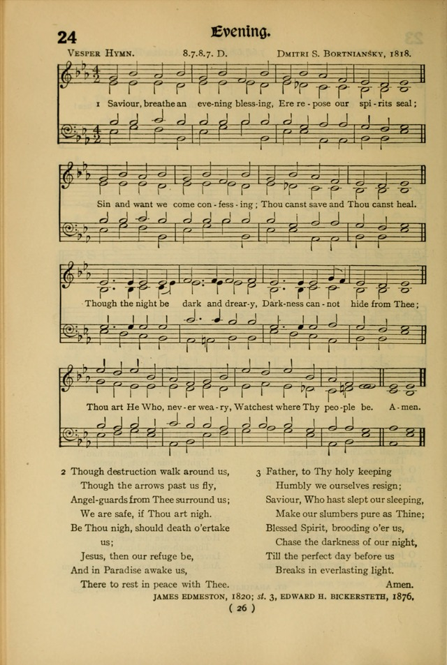 The Hymnal: as authorized and approved by the General Convention of the Protestant Episcopal Church in the United States of America in the year of our Lord 1916 page 96