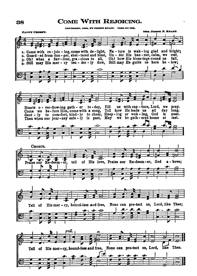 The Excelsior Hymnal page 38
