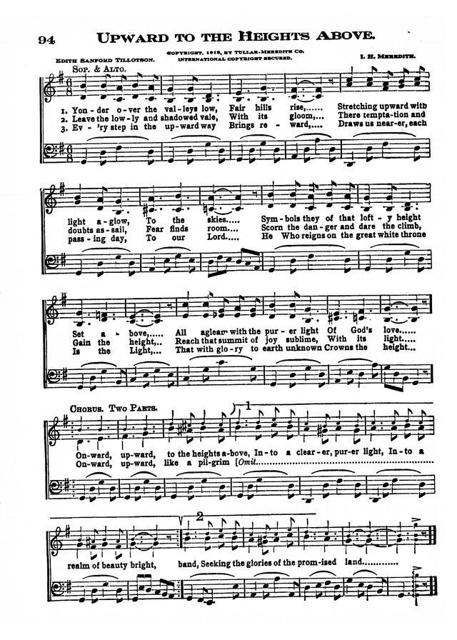 The Excelsior Hymnal page 94