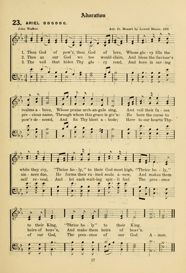 The Evangelical Hymnal page 19