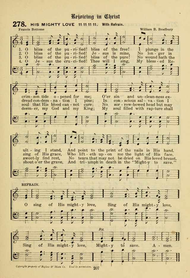 The Evangelical Hymnal page 209