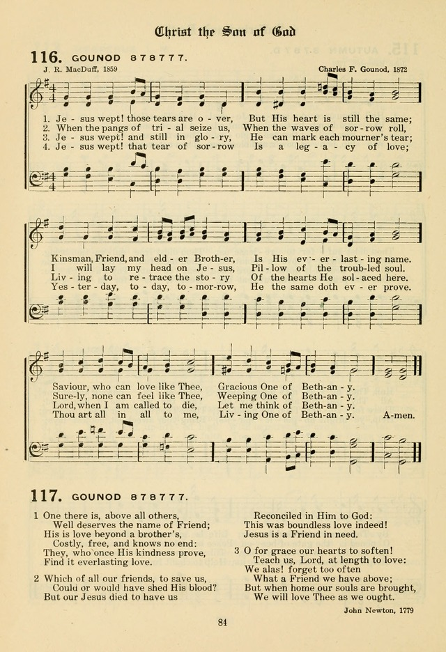 The Evangelical Hymnal page 86