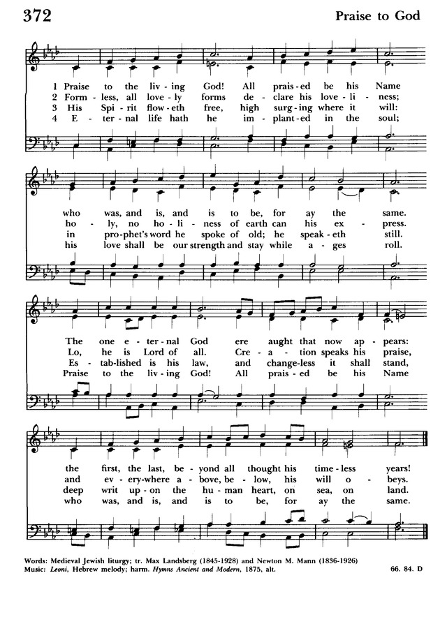 Lyric lyrics to same god : Praise to the living God, All praised be his Name   Hymnary.org