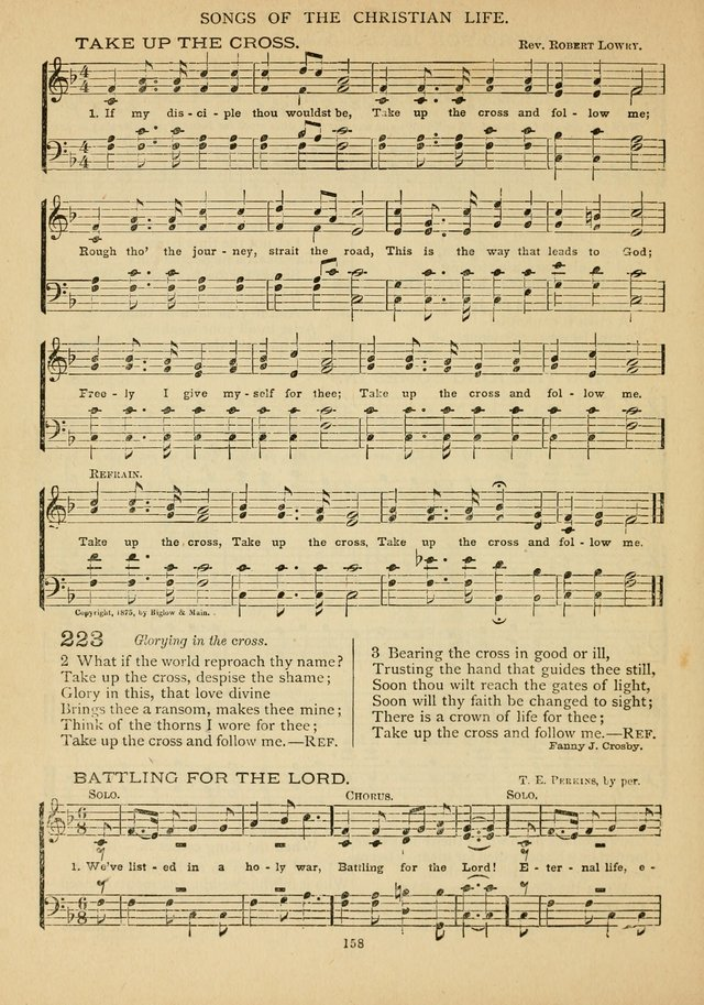 The Epworth Hymnal: containing standard hymns of the Church, songs for the Sunday-School, songs for social services, songs for the home circle, songs for special occasions page 163