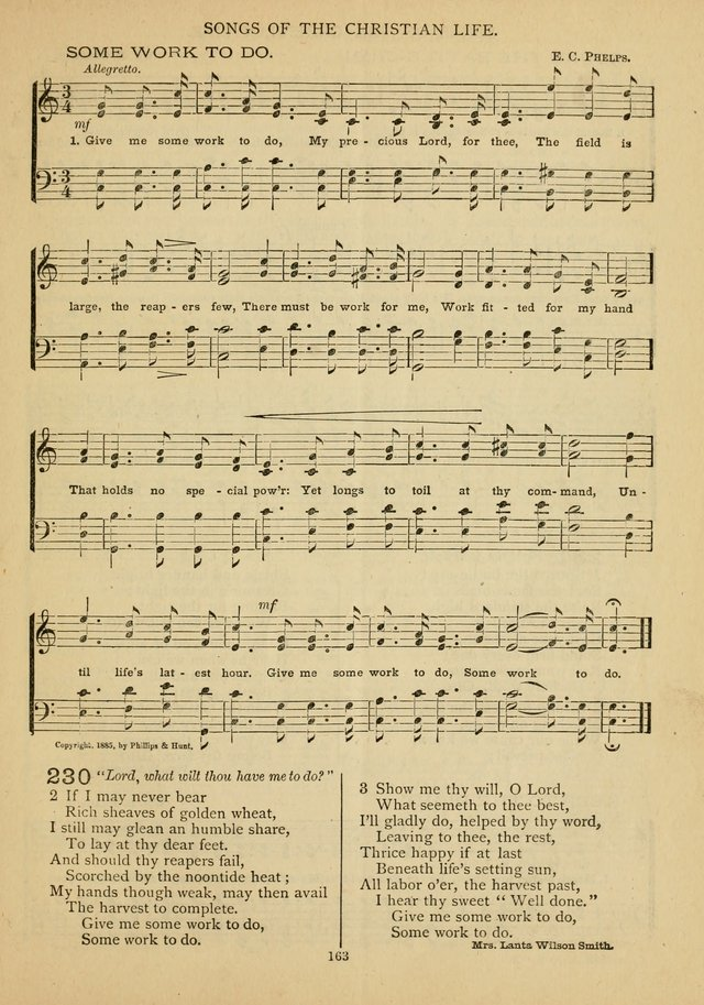 The Epworth Hymnal: containing standard hymns of the Church, songs for the Sunday-School, songs for social services, songs for the home circle, songs for special occasions page 168