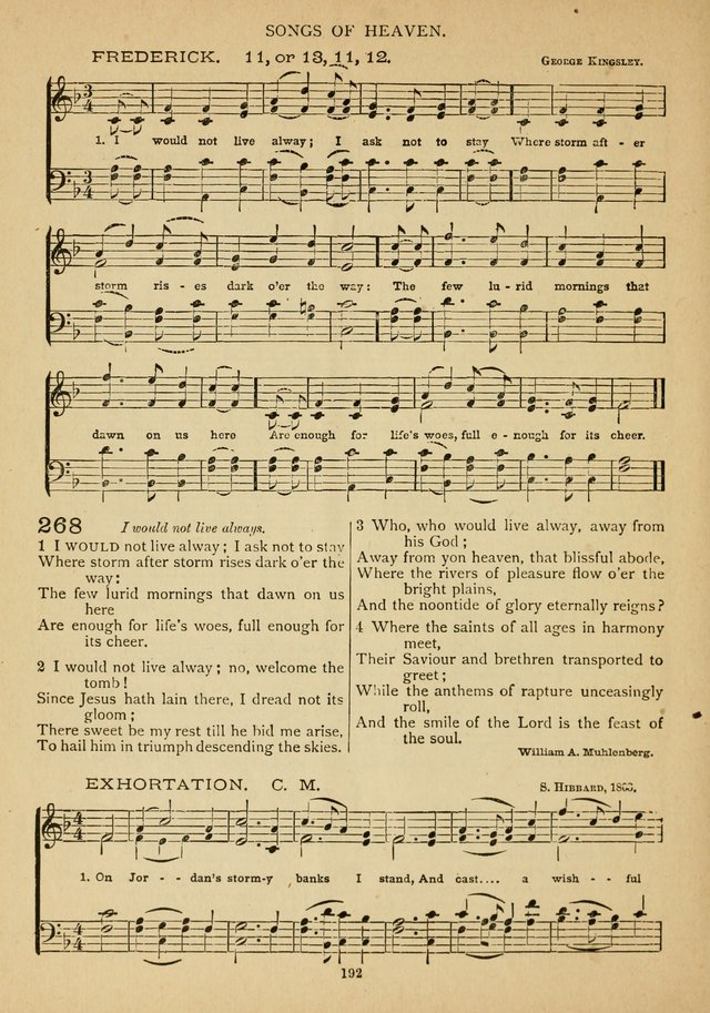 The Epworth Hymnal: containing standard hymns of the Church, songs for the Sunday-School, songs for social services, songs for the home circle, songs for special occasions page 197