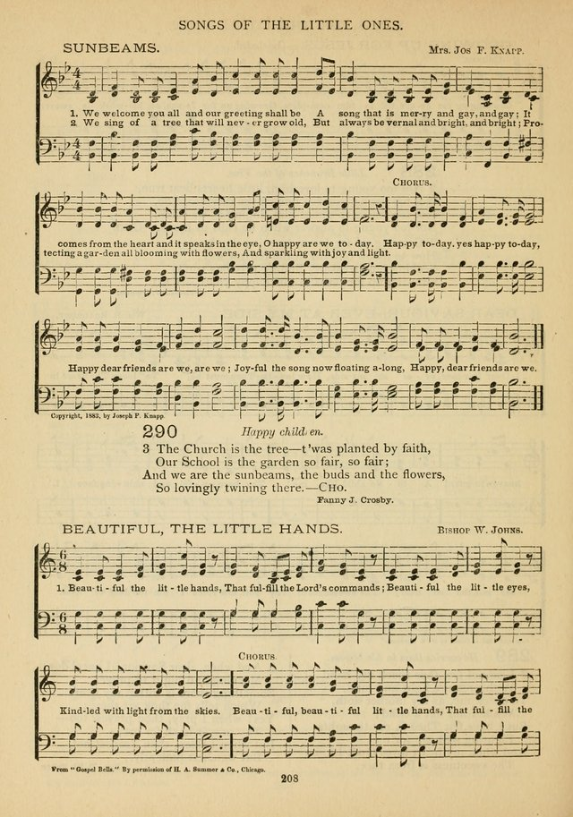 The Epworth Hymnal: containing standard hymns of the Church, songs for the Sunday-School, songs for social services, songs for the home circle, songs for special occasions page 213