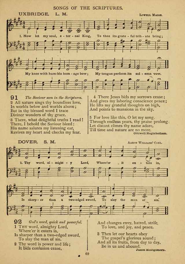 The Epworth Hymnal: containing standard hymns of the Church, songs for the Sunday-School, songs for social services, songs for the home circle, songs for special occasions page 74