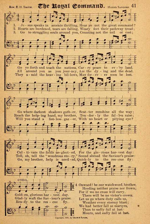 The Emory Hymnal: a collection of sacred hymns and music for use in public worship, Sunday-schools, social meetings and family worship page 41