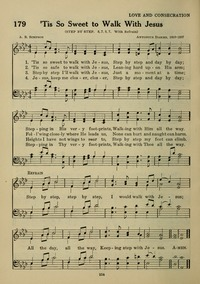 Tis So Sweet To Walk With Jesus Step By Step Hymnary