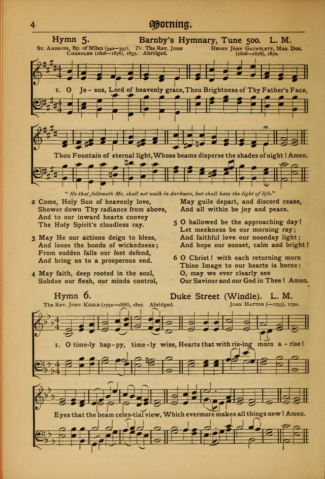 The Evangelical Hymnal with Tunes page 4