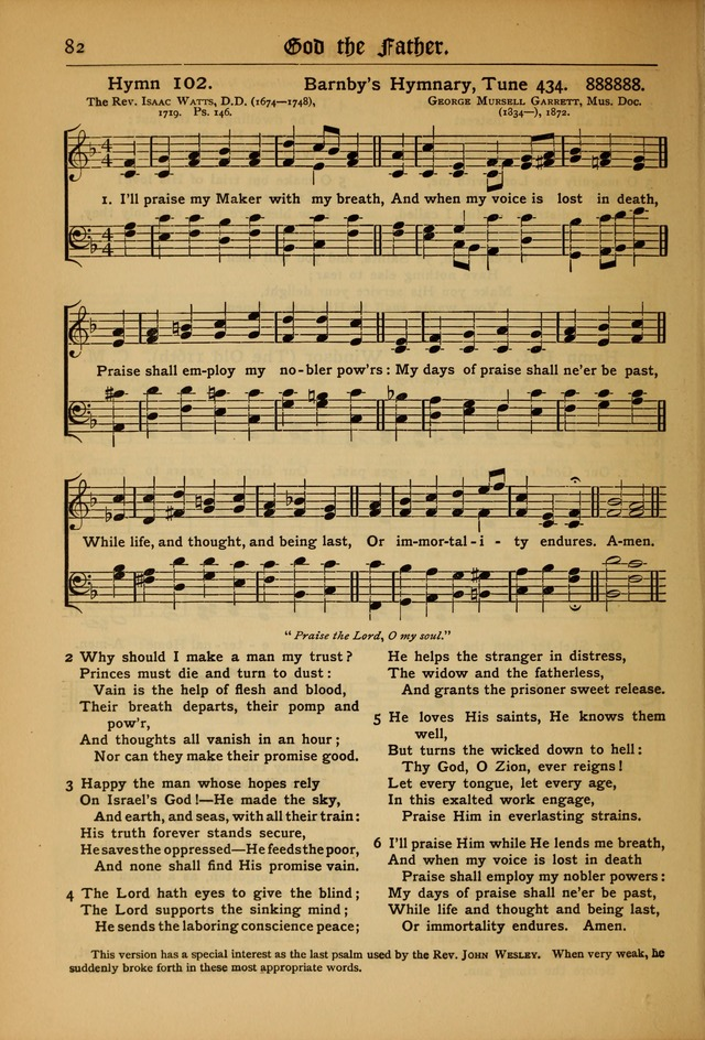 The Evangelical Hymnal with Tunes page 84