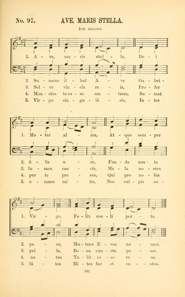English and Latin Hymns, or Harmonies to Part I of the Roman Hymnal: for the Use of Congregations, Schools, Colleges, and Choirs page 154