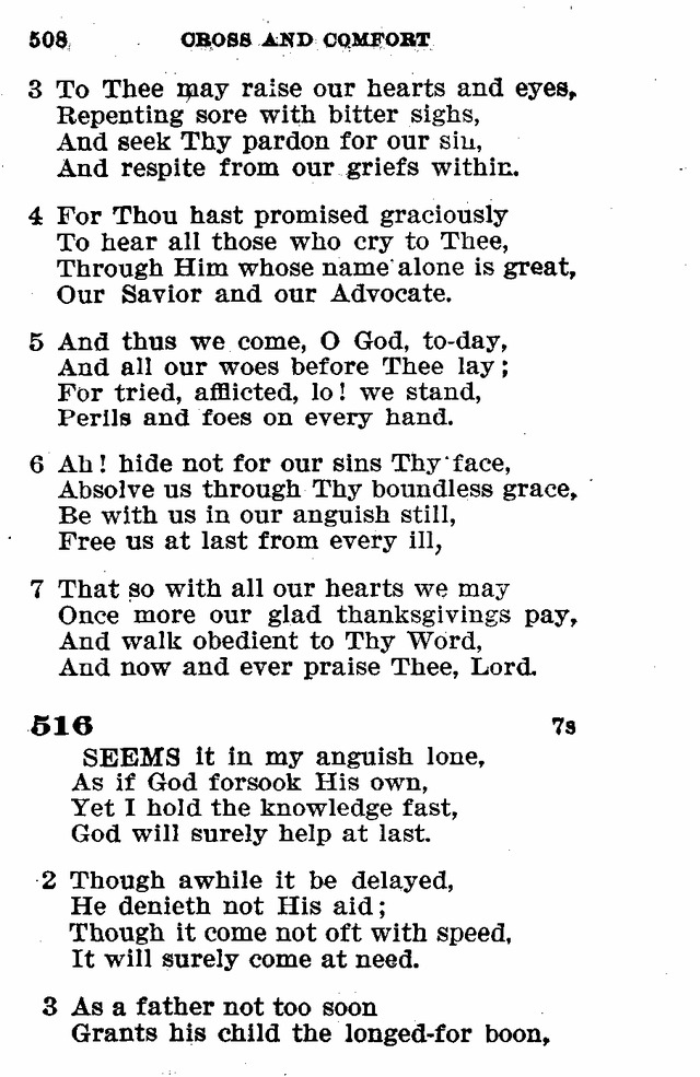 Evangelical Lutheran Hymn-book page 736