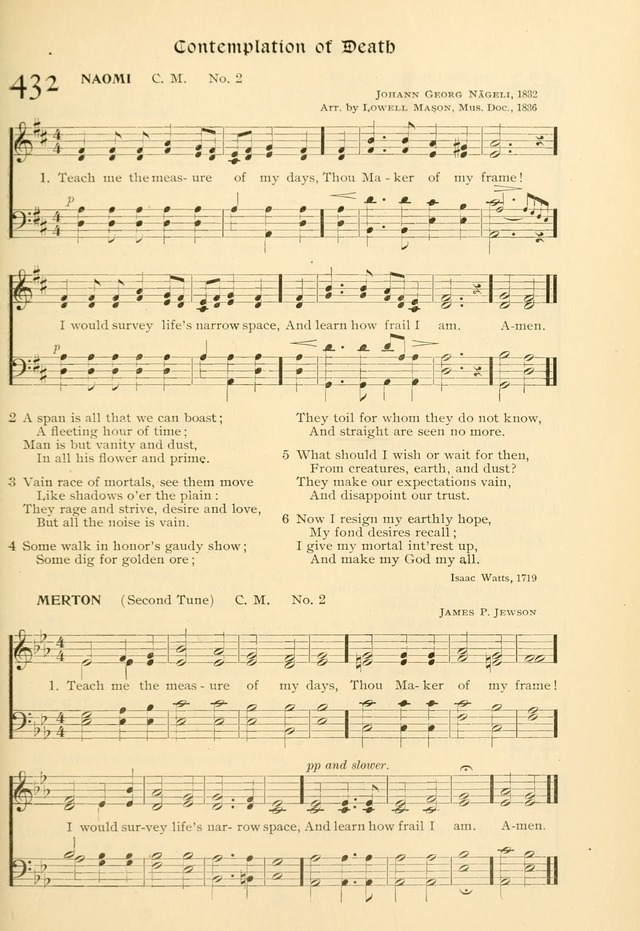 Evangelical Lutheran hymnal: with music page 434