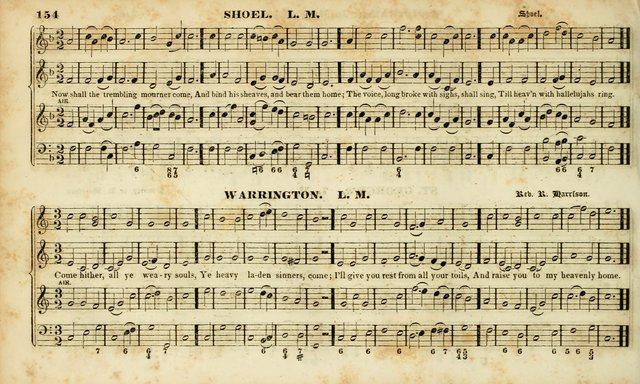 Evangelical Musick: or, The Sacred Minstrel and Sacred Harp United: consisting of a great variety of psalm and hymn tunes, set pieces, anthems, etc. (10th ed) page 154