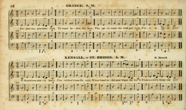 Evangelical Musick: or, The Sacred Minstrel and Sacred Harp United: consisting of a great variety of psalm and hymn tunes, set pieces, anthems, etc. (10th ed) page 42