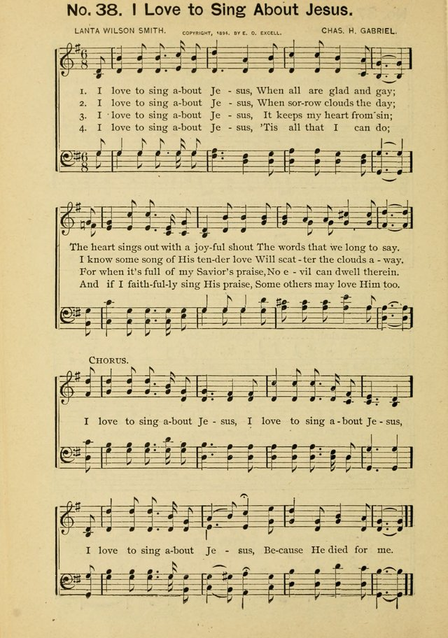 Excellent Songs for the Church and Sunday School page 38
