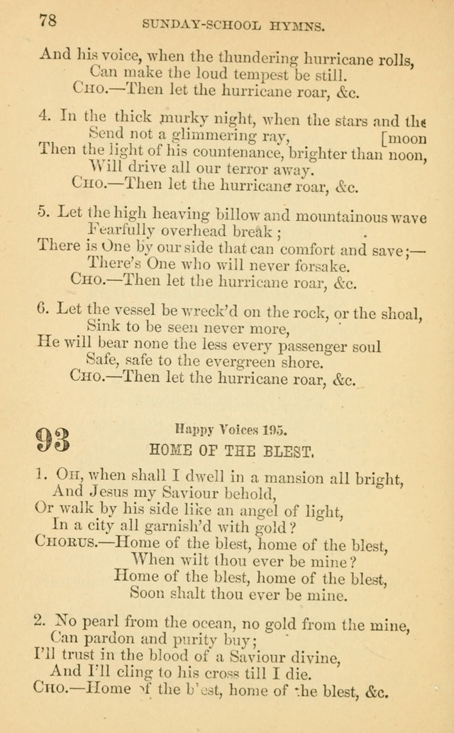 The Eclectic Sabbath School Hymn Book page 78