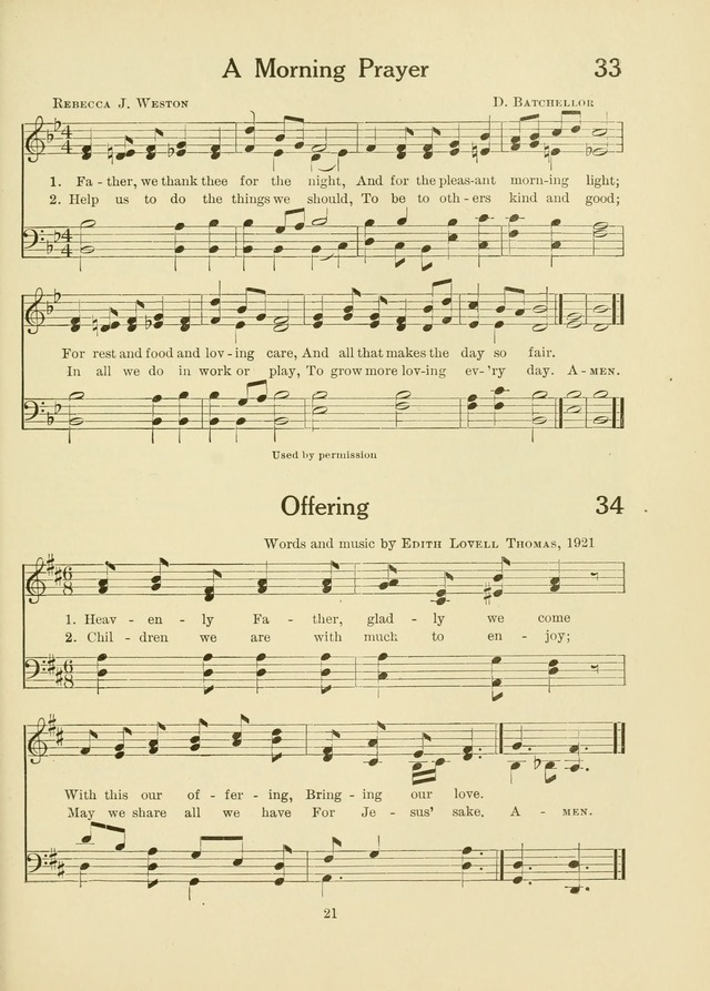 A First Book in Hymns and Worship page 21